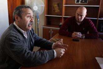 Rodolfo Chávez, del SIMAPE, y Carlos Mezzamico, del SUPA.