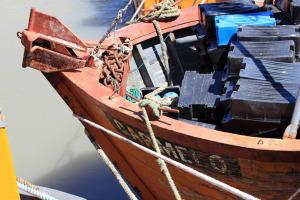 El buque Carmelo, de 12 metros de eslora.