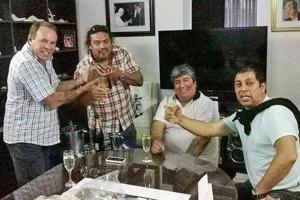 Suárez y Soto en ocasión de un festejo.
