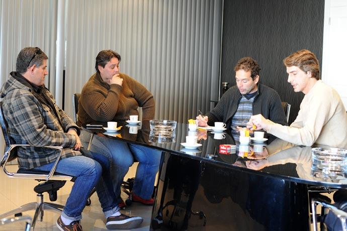 Marcelo Aráoz,  Sergio Guallart y Jose Vignolo recibieron a Revista Puerto.